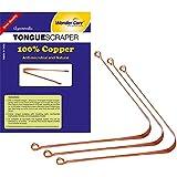 Wonder Care - 100% Copper Tongue Scraper/cleaner Ayurvedic Antibacterial for Optimal Oral Hygiene (3 Pieces)