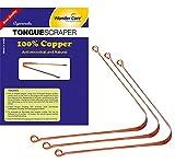 metal tongue cleaner - Wonder Care - 100% Copper Tongue Scraper/cleaner Ayurvedic Antibacterial for Optimal Oral Hygiene (3 Pieces)