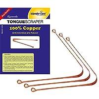 Racles-langue Wonder Care-100% cuivre - Nettoyeur ayurvédique antibactérien pour une hygiène buccale optimale (3Pièces)