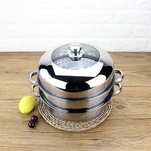 Cuiseur vapeur multicouche en acier inoxydable, légumes de cuisson, viande, couvercle en verre trempé transparent, cuisson visuelle, sûr et fiable