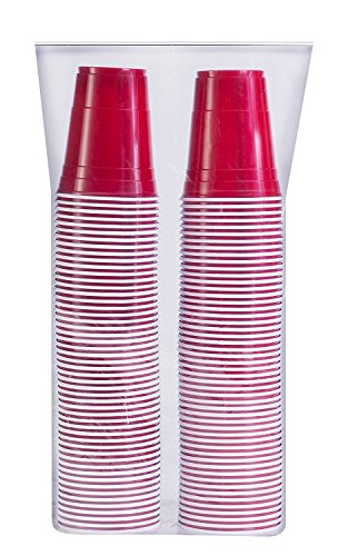 Kitch Red Plastic Party Cup Cold Cups Made in USA 16 Ounce 100 Pack ()