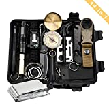 Easelive Emergency Survival Kits, 14 in 1 Outdoor Survival Gear Kit with Survival Bracelet, Folding Knife, Emergency Blanket, Wire Saw for Hiking/Camping/Wilderness Adventures/Disaster Preparedness