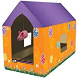 Four Paws Super Catnip Cat Scratching Play House