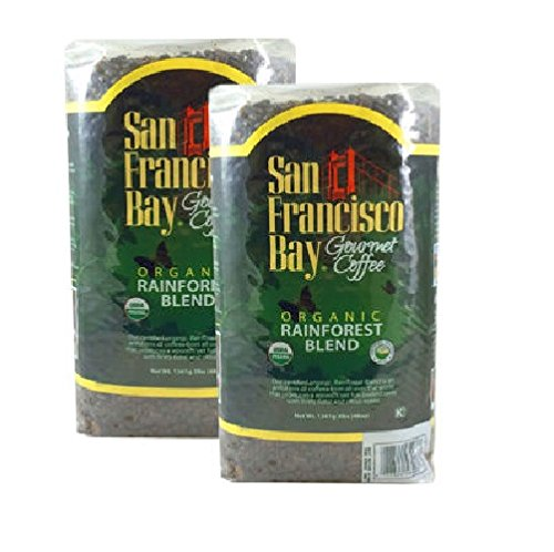 San Francisco Bay Organic Rain Forest Blend Whole Bean Coffee 3 lb. Bag 2-pack - Bay Area Blend