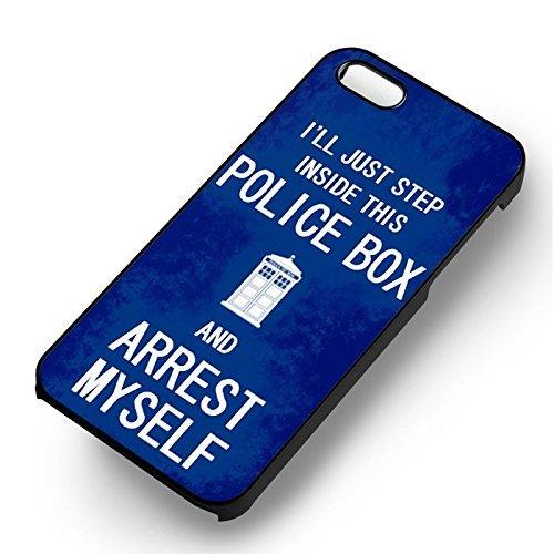Arrest In This Police Box pour Coque Iphone 7 Case (Noir Boîtier en plastique dur) V8U5RE