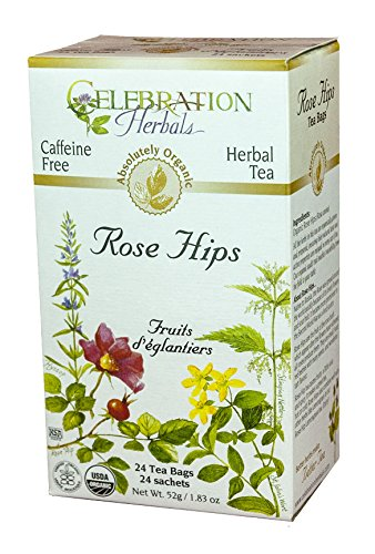 (CELEBRATION HERBALS Rose Hips Tea Organic 24 Bag, 0.02 Pound)