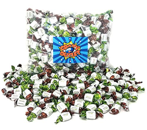 CrazyOutlet Pack - Arcor Chocolate Filled Mints Hard Candy Bulk, Premium Hard Candies, 2Lbs ()