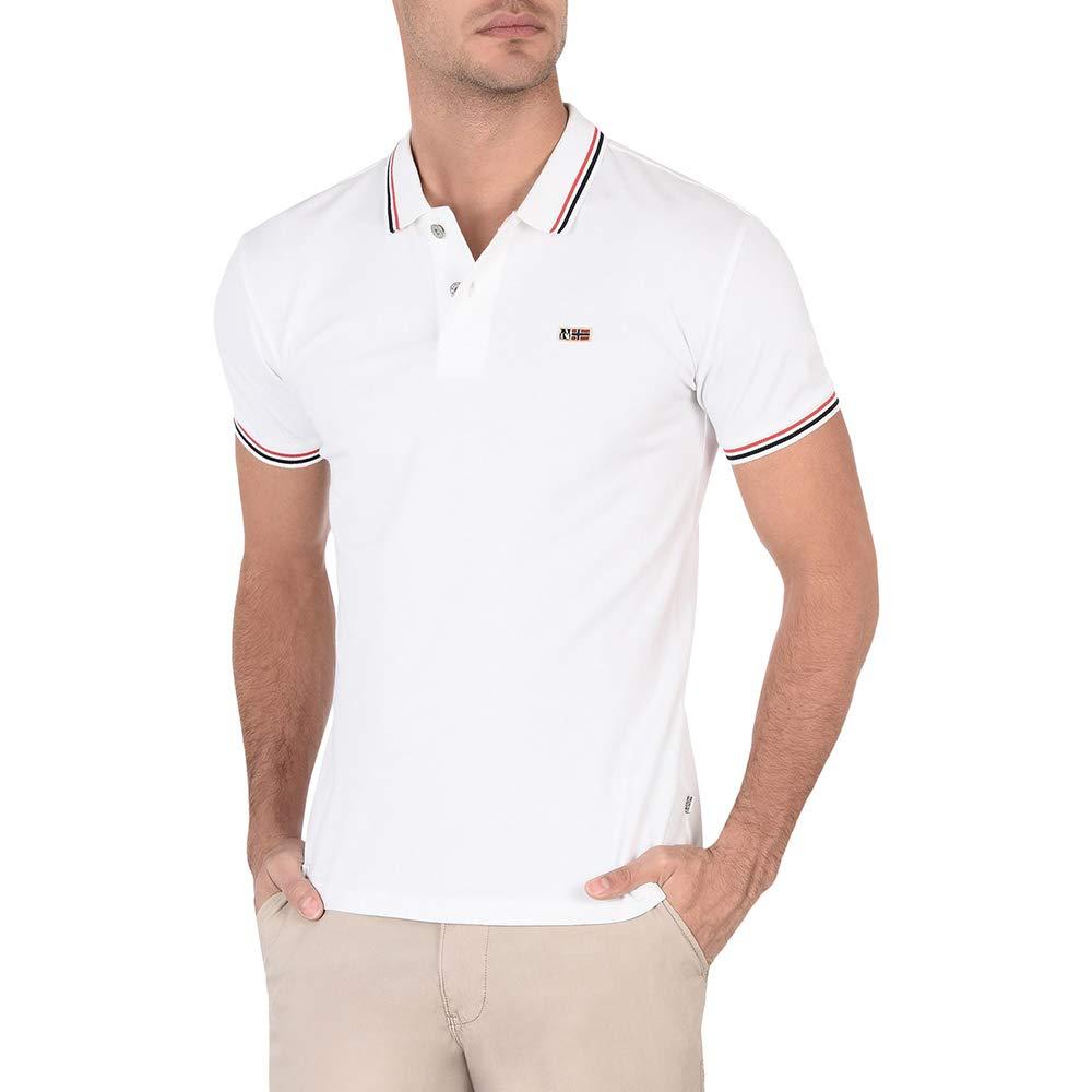 Bianco L Napapijri Polo Homme