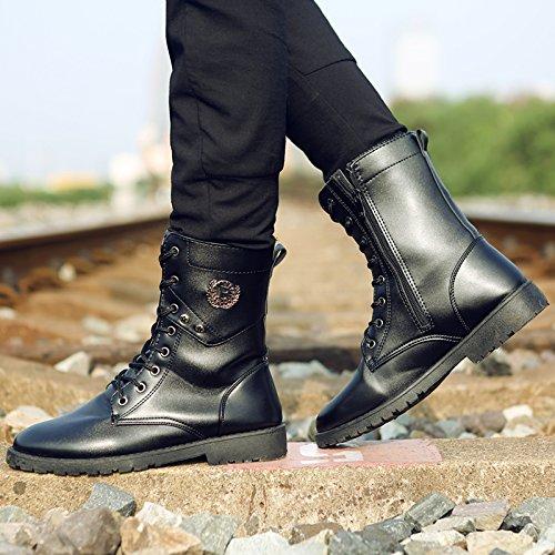 nbsp;Spring tube casual 93 shoes Martin Autumn tall GUNAINDMX nbsp; boots men's and Black OxwvqCUnS5