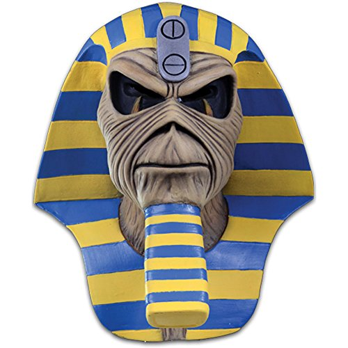 Loftus International Iron Maiden Powerslave Cover Mask Full Head Mask Beige Blue Yellow One-Size Novelty -