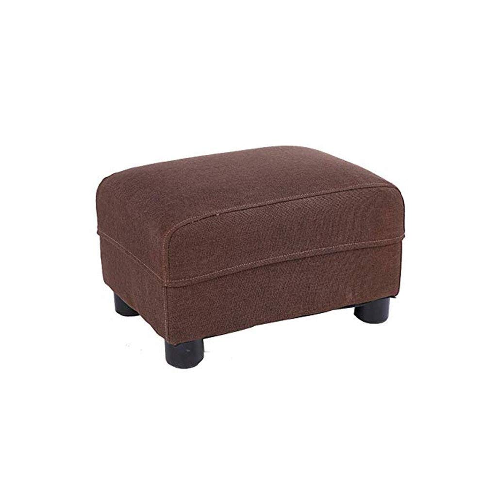 D GJD Solid Wood Footstool, Living Room Home Small Bench Fabric Sofa Stool, Multi-color Selection (color   A)