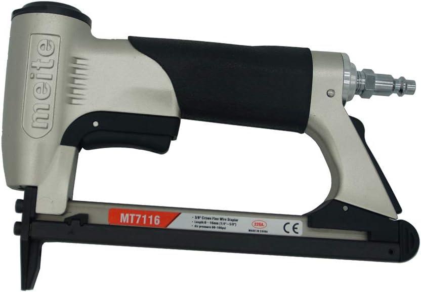 MT7116 upholstery stapler - 22 gauge 71 series 3/8-inch crown 1/4-inch to 5/8-inch leg length fine wire stapler furniture stapler