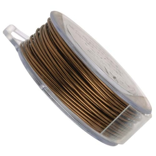 Vintaj Brass Bronze Colored Copper Wire 20 Gauge 45 Feet (1 - Permanent Wire Copper Colored