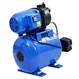 Goplus 1200W Shallow Well Pump & Tank Garden Water Pump Pressurized Home Irrigation 1000GPH