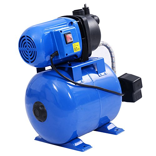 Goplus 1200W Shallow Well Pump & Tank Garden Water Pump Pressurized Home Irrigation 1000GPH