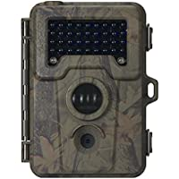 MustHD 2.4 Inch 12 MP Waterproof Hunting/Trail Cam with Night Vision, Camouflage (DL05)