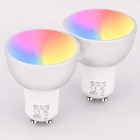 Bombilla LED Inteligente, Lámpara de Lámpara Wi-Fi Multifunción(2 paquetes)
