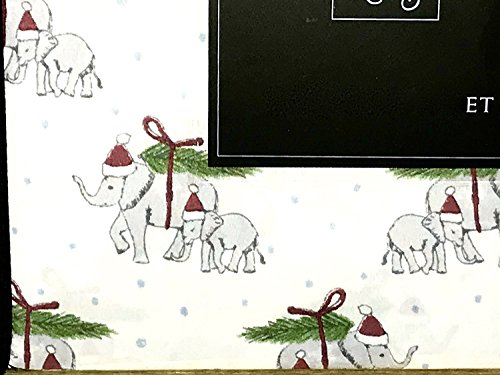 - Cynthia Rowley Christmas Elephants Full Size Sheet Set Winter Holiday Christmas