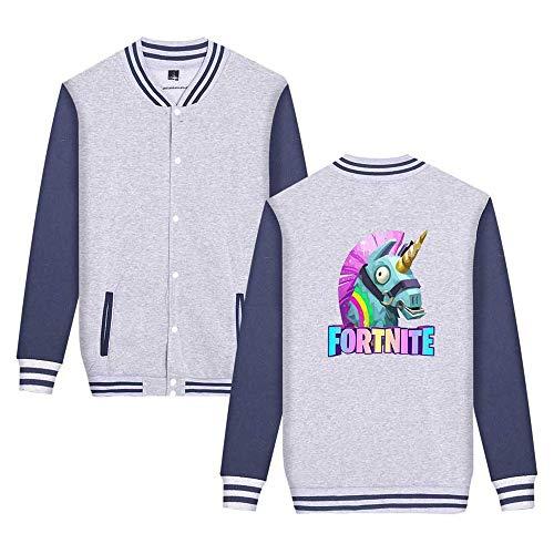 Unicorno Stampate Da Giacca Leggera Semplice Casual Sweatshirts Grey1 Fortnite Moda Baseball Unisex Aivosen Comode Ux6qwETSq