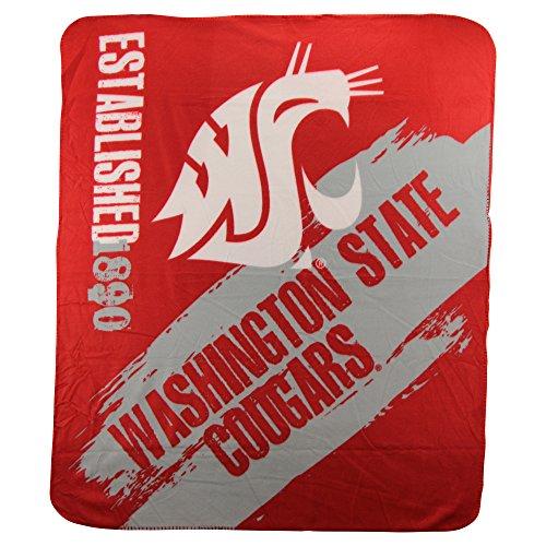 The Northwest Company NCAA Collegiate School Logo Fleece Blanket (Washington State Cougars)
