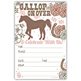 Cute Horse Birthday Party Invitations with Envelopes [20 Count]