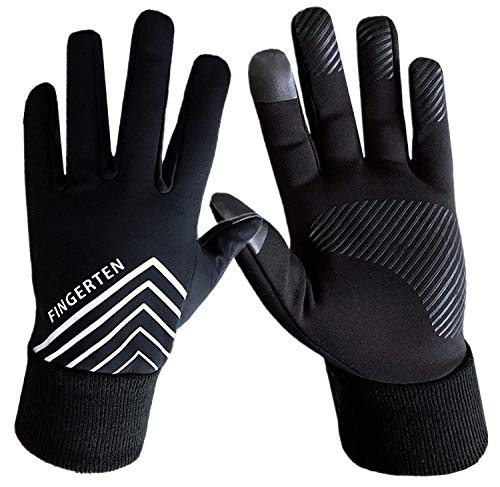 Winter Gloves Men Women Touch Screen 3M Warm Running Run Cycling Fleece Liner, Windproof Grip in Pair Gift Set with Free Earband (Small)
