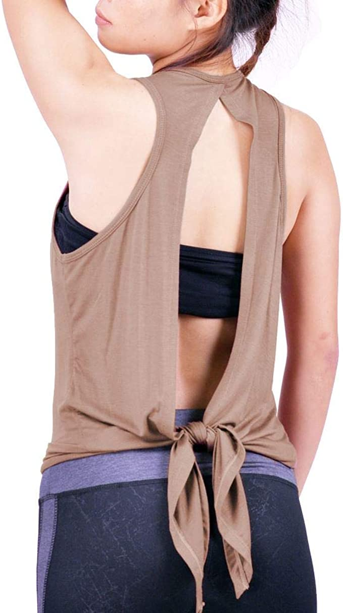Lofbaz Open Back Workout Tank Tops For Women Yoga Gym Shirts Athletic Clothes Clothing