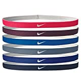 Nike Printed Headbands Assorted 6pk (RACER PINK/BORDEAUX/PHOTO BLUE)