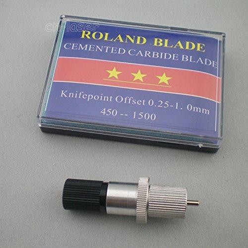 1 holder +15pcs 5x30+5x45+5x60 Blades for Roland Vinyl Cutter blade ()