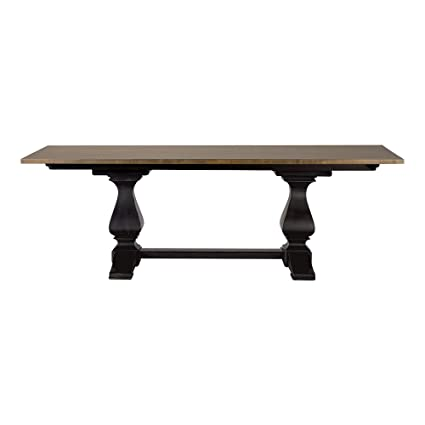 Image Unavailable  sc 1 st  Amazon.com & Amazon.com - Ethan Allen Cameron Trestle Dining Table Rye/Charcoal ...