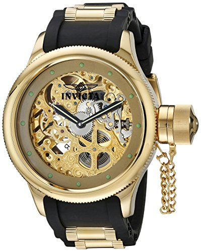 Invicta Men s 1243 Russian Diver Analog Display Mechanical Hand Wind Black Watch