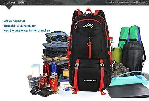 /Mochila 50L exterior de recuperaci/ón de mochila gran capacidad duradera Viajes Ligera Impermeable Senderismo Daypack/ regalo impermeable bolsillos