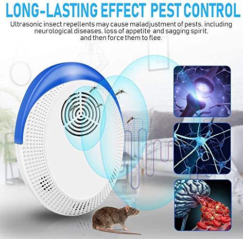 Ultraschall Schädlingsbekämpfer, Elektronische Insektenschutzmittel, Moskitoschutz Repeller Gegen Mücken, Mäuse, Ameisen, Kakerlaken, Fliegen, Spinnen Sicher für Kinder und Haustiere(4 Stück)