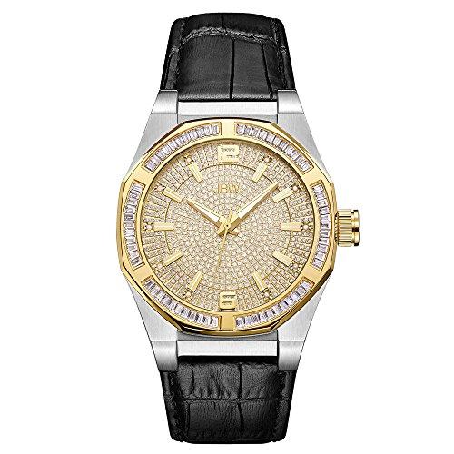 JBW Men's J6350E Apollo 0.10 ctw Stainless Steel Diamond Watch