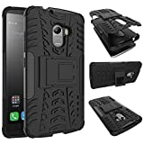 Chevron Tough Armor Back Cover Case With Kickstand For Lenovo K4 Note (Black)