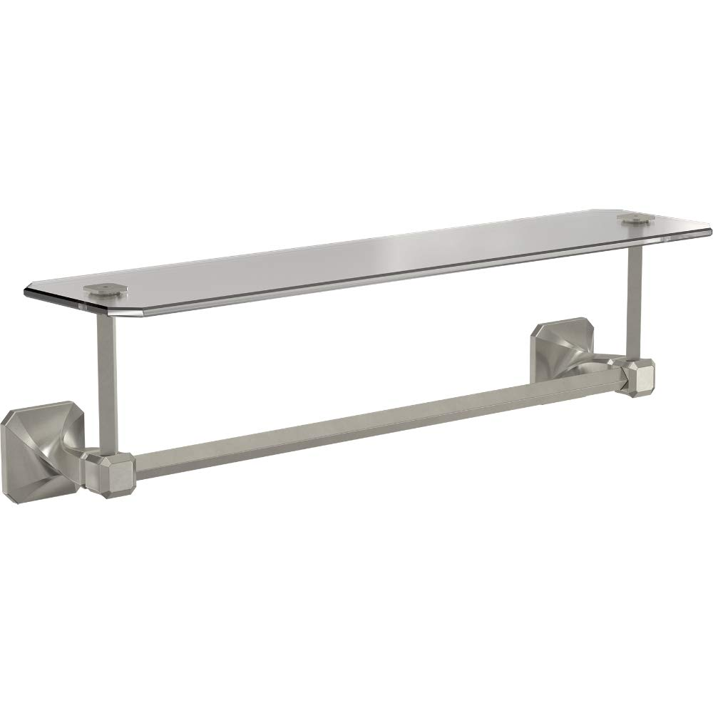 Franklin Brass NAP10-SN Napier Towel Bar with Shelf, Satin Nickel
