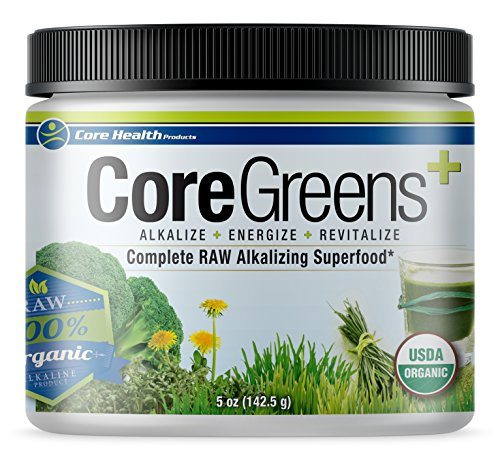 Core Health Products Core Greens 5 Ounce - 14 Organic Non GMO RAW superfoods Grown in The USA