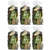 Hosley's Set of 6 Bags, 5 Oz Each, Total 30 Oz Fresh Bamboo Chunky Potpourri. Perfect for Wedding or Special Occasion; Special Events, Aromatherapy, Spa, Reiki, Meditation O4