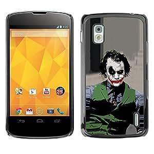 LOVE FOR LG Nexus 4 E960 Evil Joker Personalized Design Custom DIY Case Cover