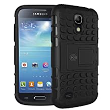 Galaxy S4 Case, Samsung Galaxy s4 Armor cases [HEAVY DUTY] Tough Armorbox Dual Layer Hybrid Hard/Soft Protective Cover by Cable and Case [Samsung Compatible S4 Phone Cases] - (Black)