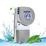 LUCKSTAR Handheld Cooler Fan - Small Fan Mini-Air Conditioner Speed Adjustable Summer Cooler Fan With Water Bottle Powered by Batteries or USB Cable for Home / Office / Travel / Outdoor (Grey)