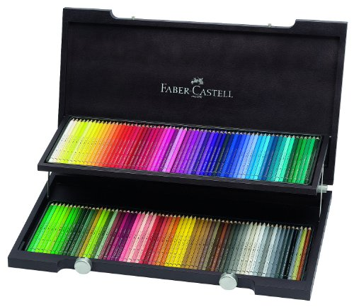 120 Color Set - Faber-Castell Albrecht Durer Watercolor Pencil Wood Case, Set of 120 Colors (FC117513)