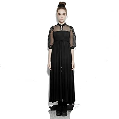 15fe9508db583 Steampunk Silk Cotton Long Dress Women Embroidery Victorian Royal Fairy  Dress (XS-M