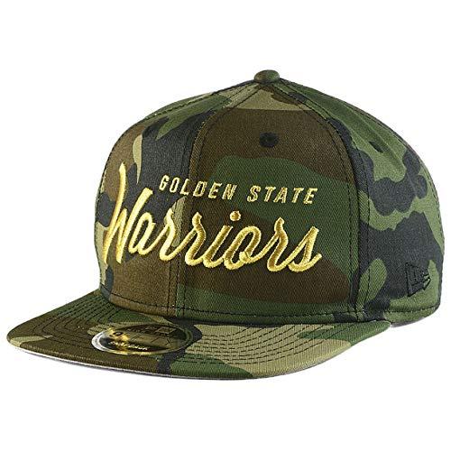 New Era Golden State Warriors 9FIFTY Classic Script Snapback Cap NBA, Hat Camo Adjustable