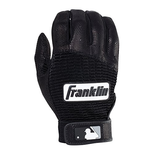 Franklin Sports Adult MLB Pro Classic Batting Gloves, Adult Large, Pair, (Franklin Leather Batting Glove)
