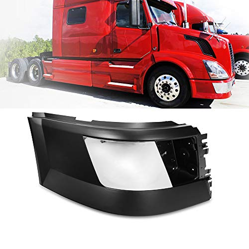 Side Bumper Right Passenger Side With Trim With Fog Light Hole Black Fit Volvo VNL 04-15
