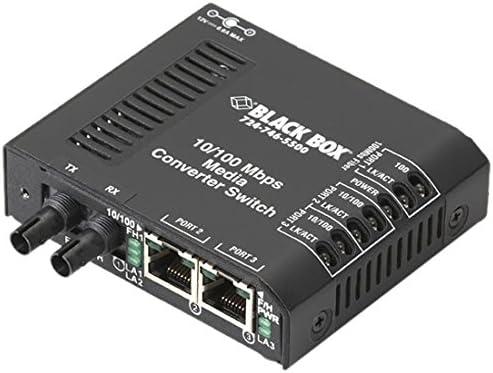 2 X Rj-45 1 X St Duplex 10//100base-tx 100base-x External Rack-mountable LBH100A-ST Black Box Corp Fast Ethernet Media Converter