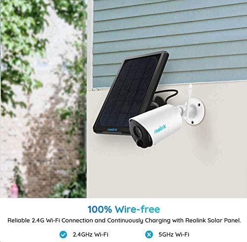 Outdoor Security Camera System Wireless Solar Battery Powered 1080p Wirefree Waterproof 2Way Audio