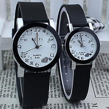 Bella, relojes de hombre/de mujer/de pareja reloj elegante cuarzo aleación banda
