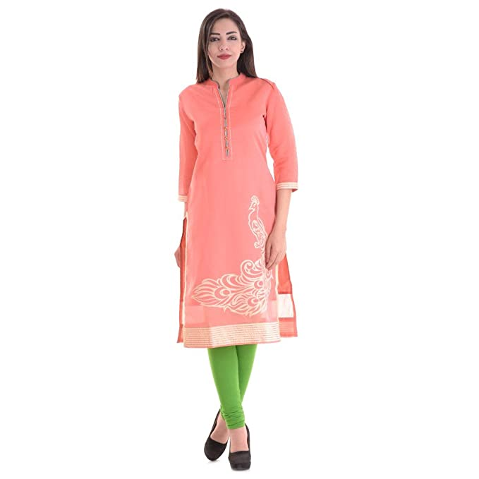 0e87e698bfd Amazon.com  Vihaan Impex Indian Kurtis for Women Kurti Kurtas for Women  Bust Size 42 Inches Pink Kurti  Clothing